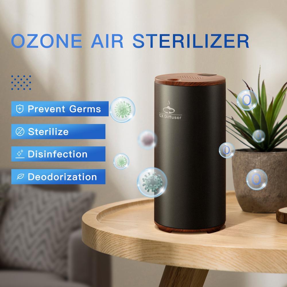GX.Diffuser Rechargeable Air Sterilizer Portable Air Purifier Car Air Ionizer USB Battery Ozonizer Air Cleaner Prevents Viruses