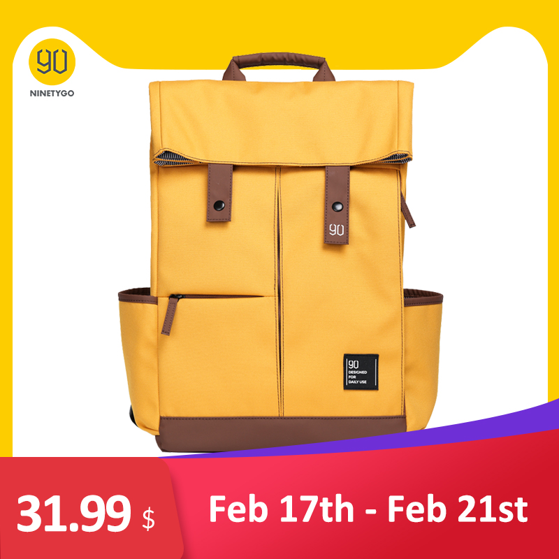 NINETYGO 90Fun College Laptop Backpack Ipx4 Waterproof  Large Capacity Knapsack Unisex Fashion 14/15.6 Inch Computer Bag School