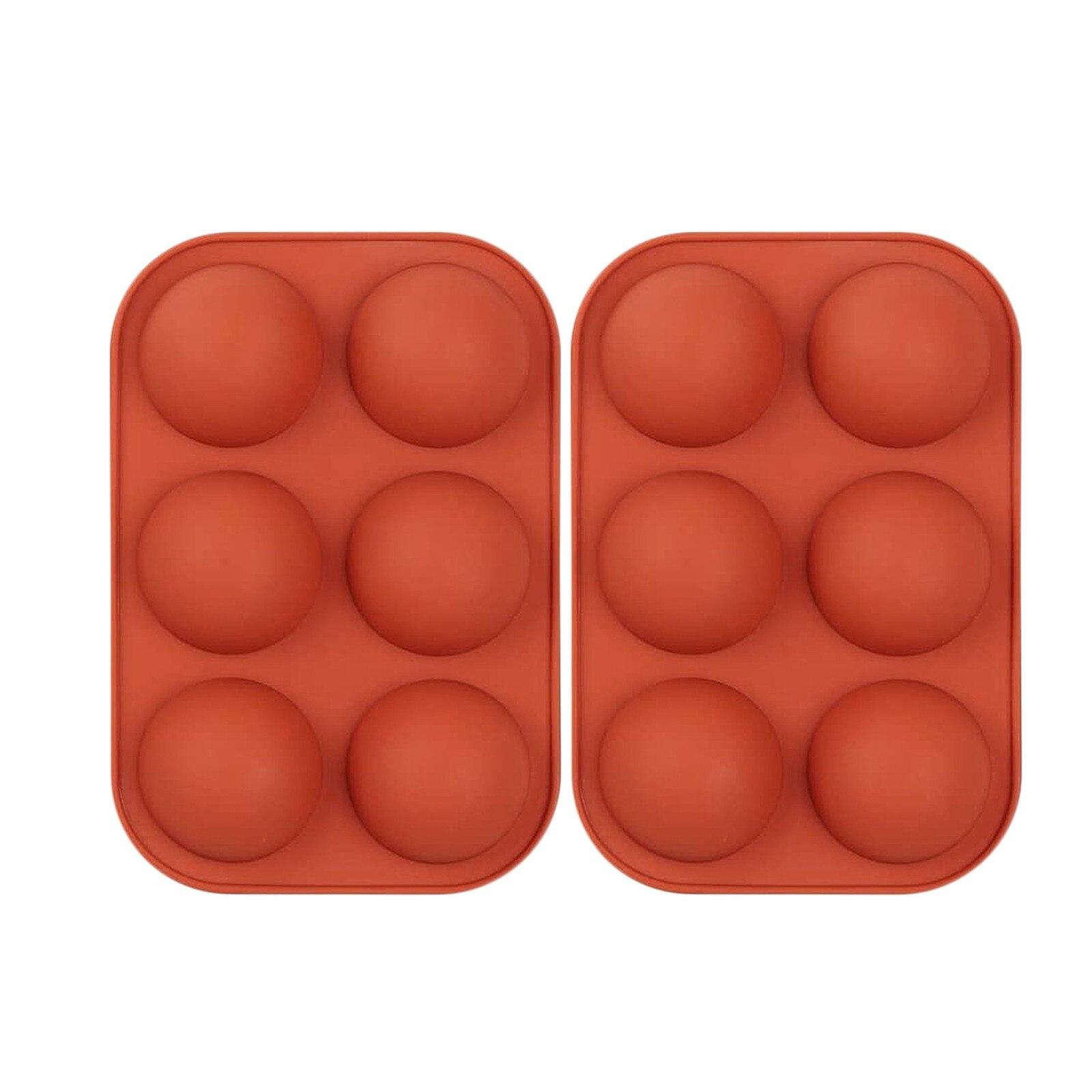 Полусферическая силиконовая форма, 2 упаковки, форма для выпечки для изготовления шоколада, торта, желе, Купола, форма для кастрюль, инструме...