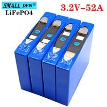 Lifepo4-batería recargable de 3,2 v, 52Ah, puede hacer inversor solar de 12v y 24v, carrito de golf, batería de bicicleta eléctrica, 4 Uds.