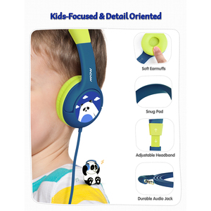 Image 5 - Mpow CH1 Kids Headphones 85dB Volume Limited Wired Headset Cute Panda Over Ear Hearing Protection Headphone With Mic For Teens