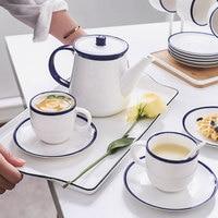 Nordic Simple Black White Water Cup Afternoon Camellia Tea Set Living Room Coffeeware Set Creative Cafe Household Tea Mug