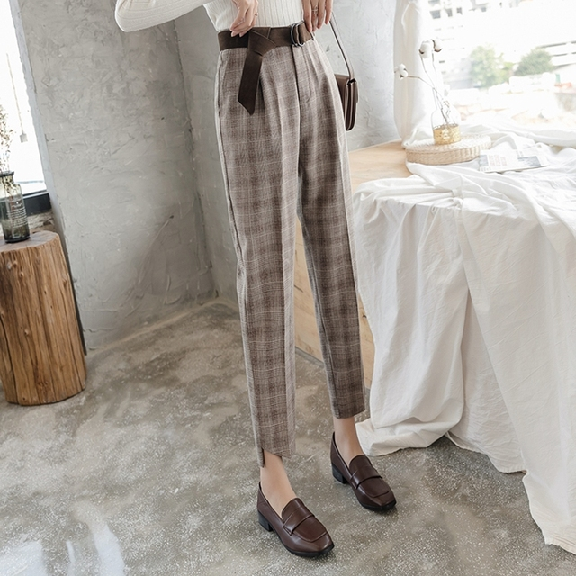 High Waist Straight Pants 4