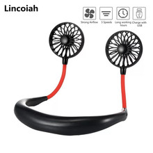 Fan Usb-Air-Conditioner Neck-Hanging Mini Portable 3 Gears Hands-Free