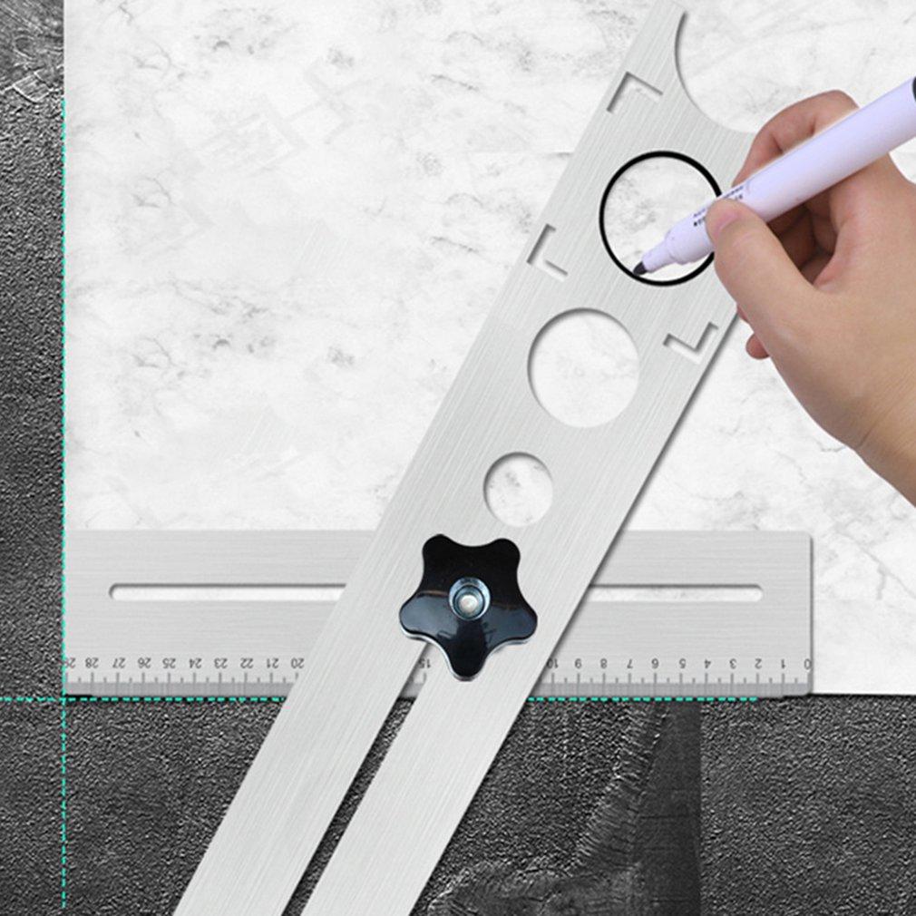Universal Tile Marble Glass Ceramic Floor Drilling Hole Tools Hole Opener Locator Adjustable Position Ruler Puncher Locator