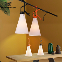 Nordic PVC Hook LED Pendant Lights Postmodern Restaurant Living Room Pendant Lamp Kitchen Bar Hanglamp Luminaria Light Fixtures