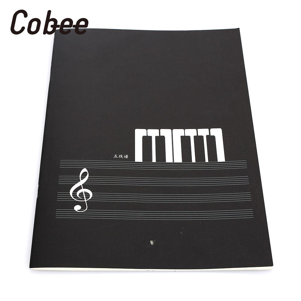 2020 New Music Sheet Spiral Notebook Stave Staff Manuscript Paper Exercise Book Students Art Office Supply