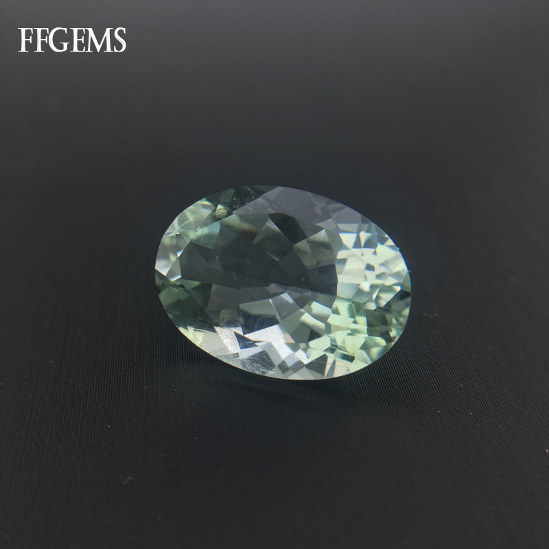 FFGems Natural Green Amethyst Loose Gemstone Fine Jewelry Diy Silver or Gold Mounting for Women Engagement Wedding Gift