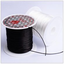 40m(43Yard) Flat Elastic Crystal Stretch String Polyester Cord for Jewelry Making Bracelet Beading Thread Craft Accessories(China)