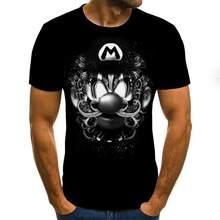 Camisa informal de manga curta com cuello redondo de moda, estampada em 3d, camisa de alta calidad 2020
