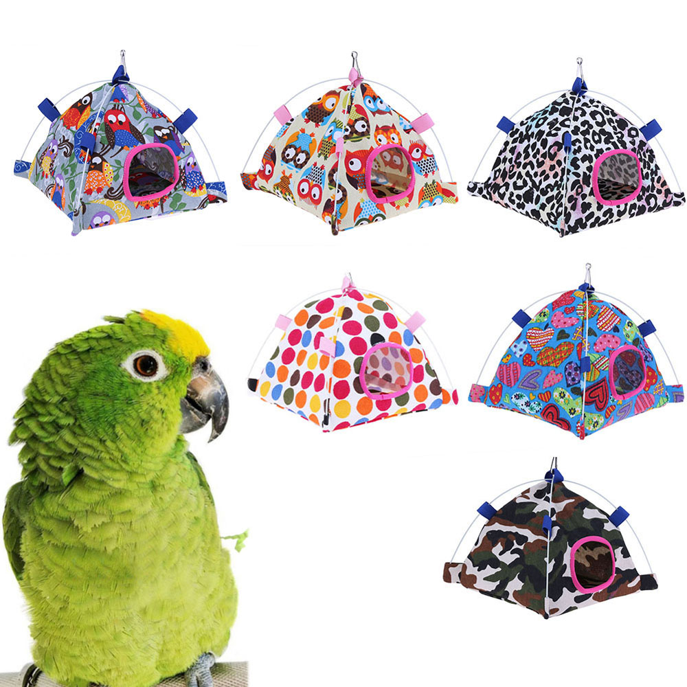 2019 Pet Multi Shapes Optional Canvas Hammock For Small Animals Bird Hanging Tent Nest Window Viewing House