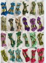 Oneroom 10 peças linhas de ponto cruz/ponto cruz bordado thread/personalizado threads cores 06