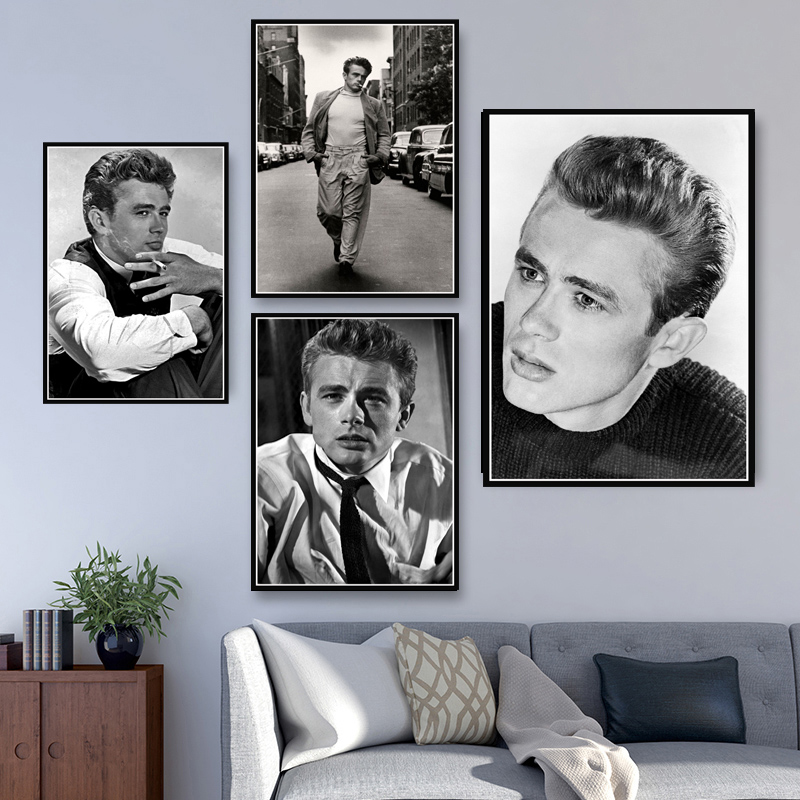 Hot James Dean USA Movie Actor Star Paintings Poster And Prints Art Wall Art Canvas Wall Pictures For Living Room obrazy plakat image