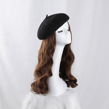 Wig beret glueless wigs Classic straight hair short Big wave Fashionable cap  for wig lots