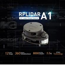 12meters radius lidar sensor scanner Slamtec RPLIDAR A1M8 360 degree 2D laser scanner for robot navigation and Localization