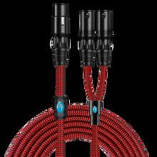 Hifi XLRสายเคเบิลSplitterสำหรับคอนโซลผสมเครื่องขยายเสียงปกติ3 Pin XLR Femlale 2 XLRชายOFC Audio 1M 2M 3M 5M 8M