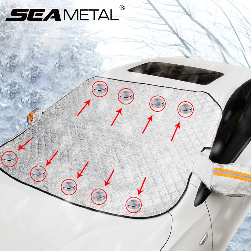 Exterior Car Windshield Snow Cover Car Snow Covers Magnetic Reflector Universal Auto Sunshade Dust Proof Protection Car Care Set