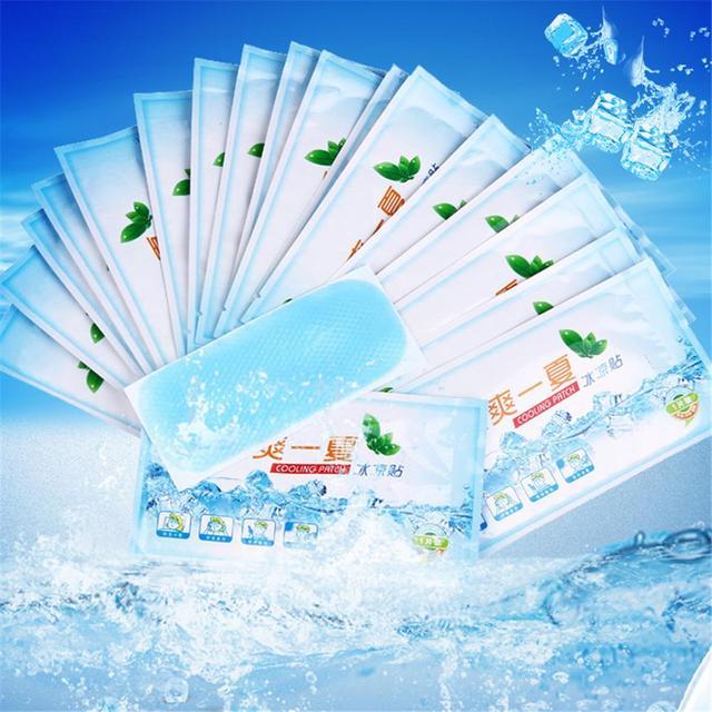 1 pièces Patch de refroidissement vers le bas de la fièvre glace plâtre médical Anti-chaud basse température polymère Hydrogel famille en plein air patchs essentiels