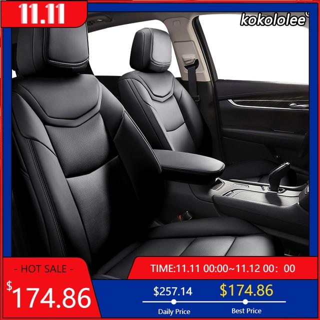 Kokololee الجلود المخصصة سيارة مقعد يغطي ل BMW 3/4 سلسلة E46 E90 E91 E92 E93 F30 F31 F34 F35 G20 G21 F32 F33 F36