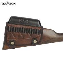 Tourbon Hunting Rimfire Rifle .22 LR /17 HMR wkłady Bullet Ammo Holder Gun Buttstock Cheek Rest Riser Pad strzelanie akcesoria
