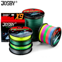 JOSBY 9 Strands New PE Braided Fishing Wire Multifilament Super Strong Fishing Line Japan Multicolour  100M 300M 500M 1000M
