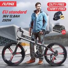 Электрический велосипед ALFINA FX80, электрический велосипед 36 в 250 Ач, Вт, 25 км/ч, складной горный велосипед, электровелосипед, 26 дюймов