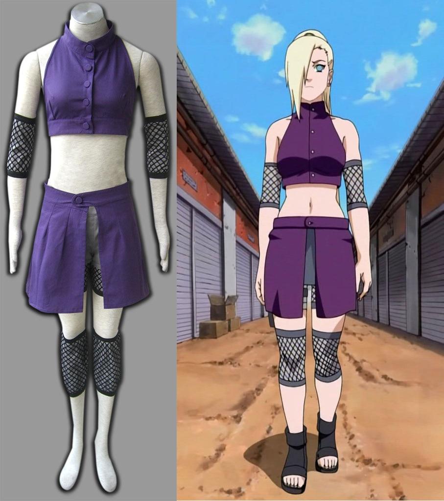Shippuden Naruto Ino Yamanaka Cosplay Costume Two Version