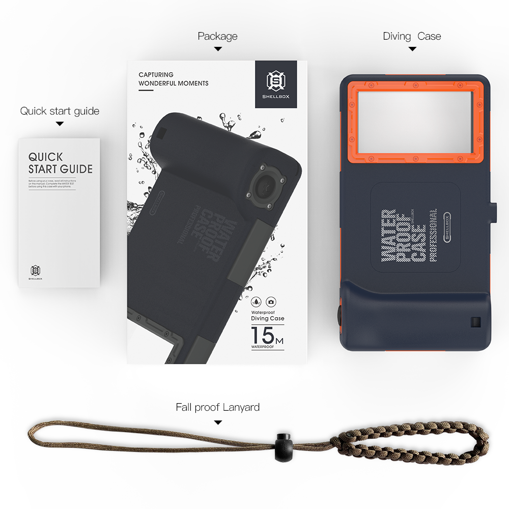 プロフェッショナルダイビングケース iphone 11 プロ Max X XR XS 最大ケース 15 メートル防水深さカバー iphone 6 6S 7 8 プラス Coque