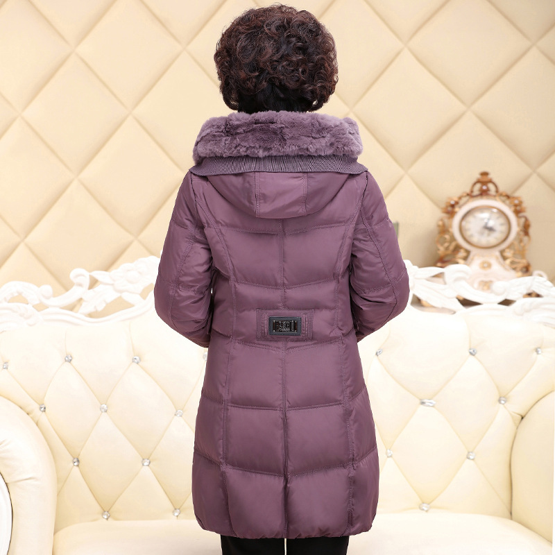 Winter Women Down Coats Jackets Warm Woman Down Parka Rex Rabbit Fur Collar Plus Size Warm Jacket 2020 133 KJ2586