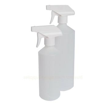3/5pcs Natural Trigger Bottle Car Cleaning Portable small Transparent Plastic Empty Spray Bottle Refillable Bottles 500/1000ML