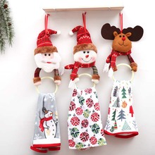 Xmas Ornament Hanging Clothes Napkin Circle Xmas Tree Cute Gift Pendant Towel Ring Merry Christmas Decoration For Home New Year new year 3pcs cute christmas faceless gnome doll nice appearance rattan ring pendant cute home window hanging xmas decoration