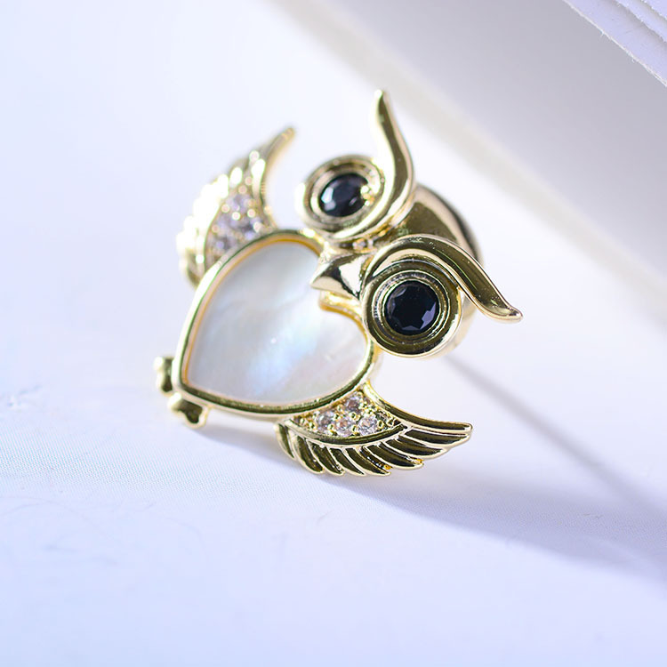 Bad Guy Zircon Brooches For Women Animal Party Causal Brooch Pin Gift Shirt Collar Pins Brooches for Women Accessories Brooch-3