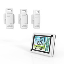Interior ao ar livre sem fio digital termohigrômetro temperatura mter monitor de umidade estação meteorológica relógio higrômetro