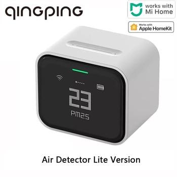 Qingping-Detector de aire Lite con pantalla táctil IPS, Monitor de aire PM2.5 compatible con Apple HomeKit