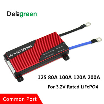 12S 80A 100A 120A 200A 36V PCM/PCB/BMS for 3.2V LiFePO4 battery pack 18650 Lithion Li-ion Battery Pack or lithium battery