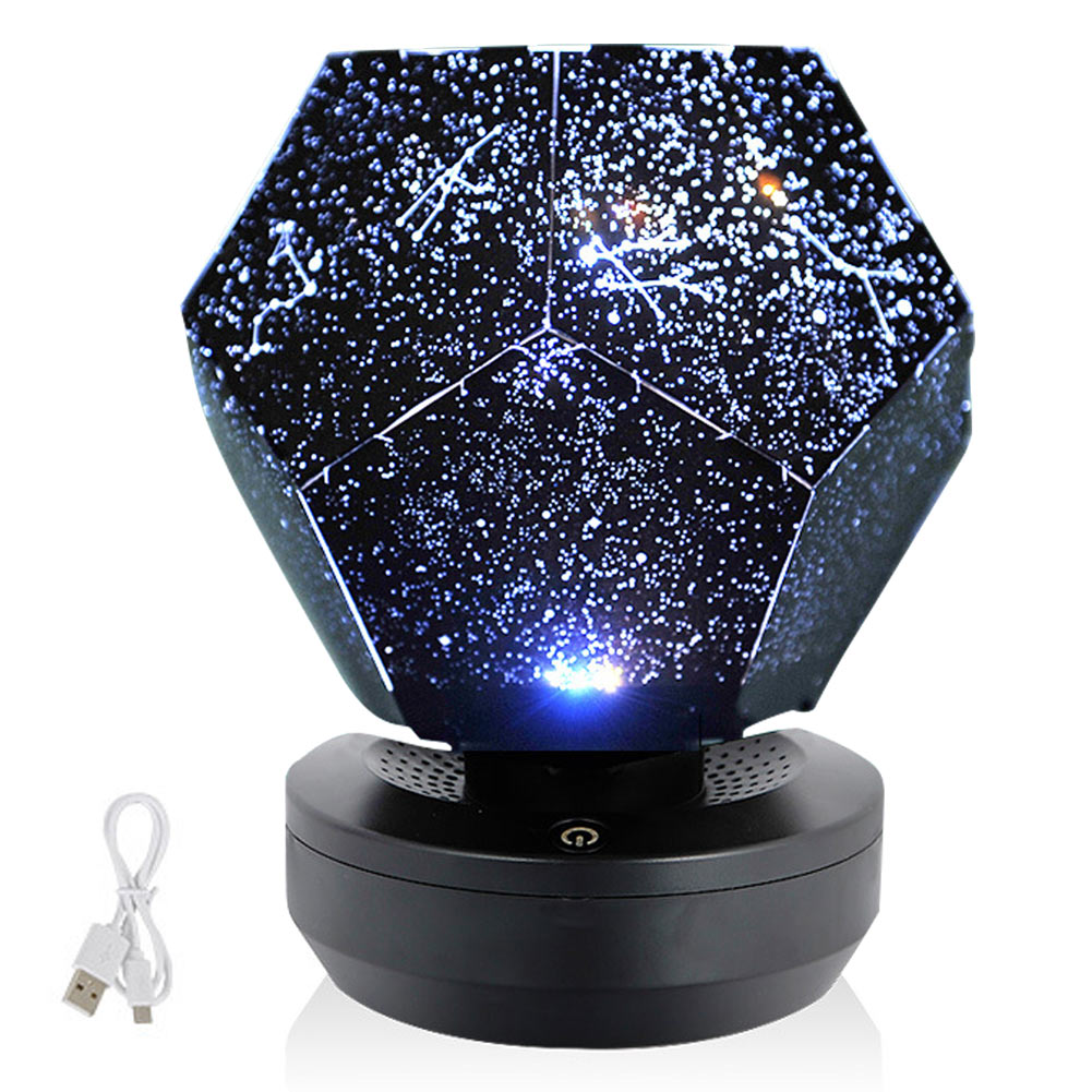 Christmas 60000 Stars Starry Sky Projector Light DIY Assembly Home Planetarium Lamp Bedroom Decoration Lighting WWO66