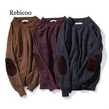 Rabbit Knitted Sweater Men Pullover Man 5XL Christmas Winter Clothes Patchwork 2019