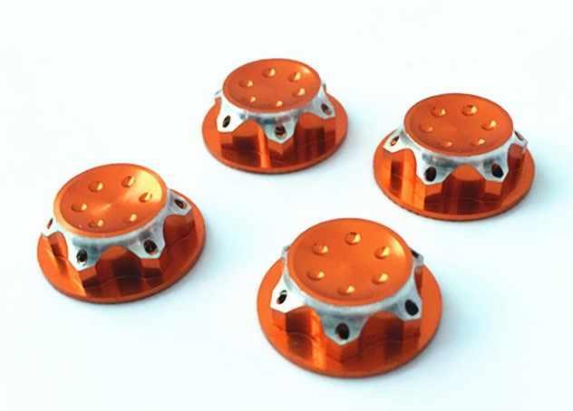 Beste Koop 4Pcs RC Buggy 1/8 Schaal 17mm Stof Lock Nuts Adapter voor RC Off-Road Truck redcat LOSI Team-C Wiel en Velgen Moer