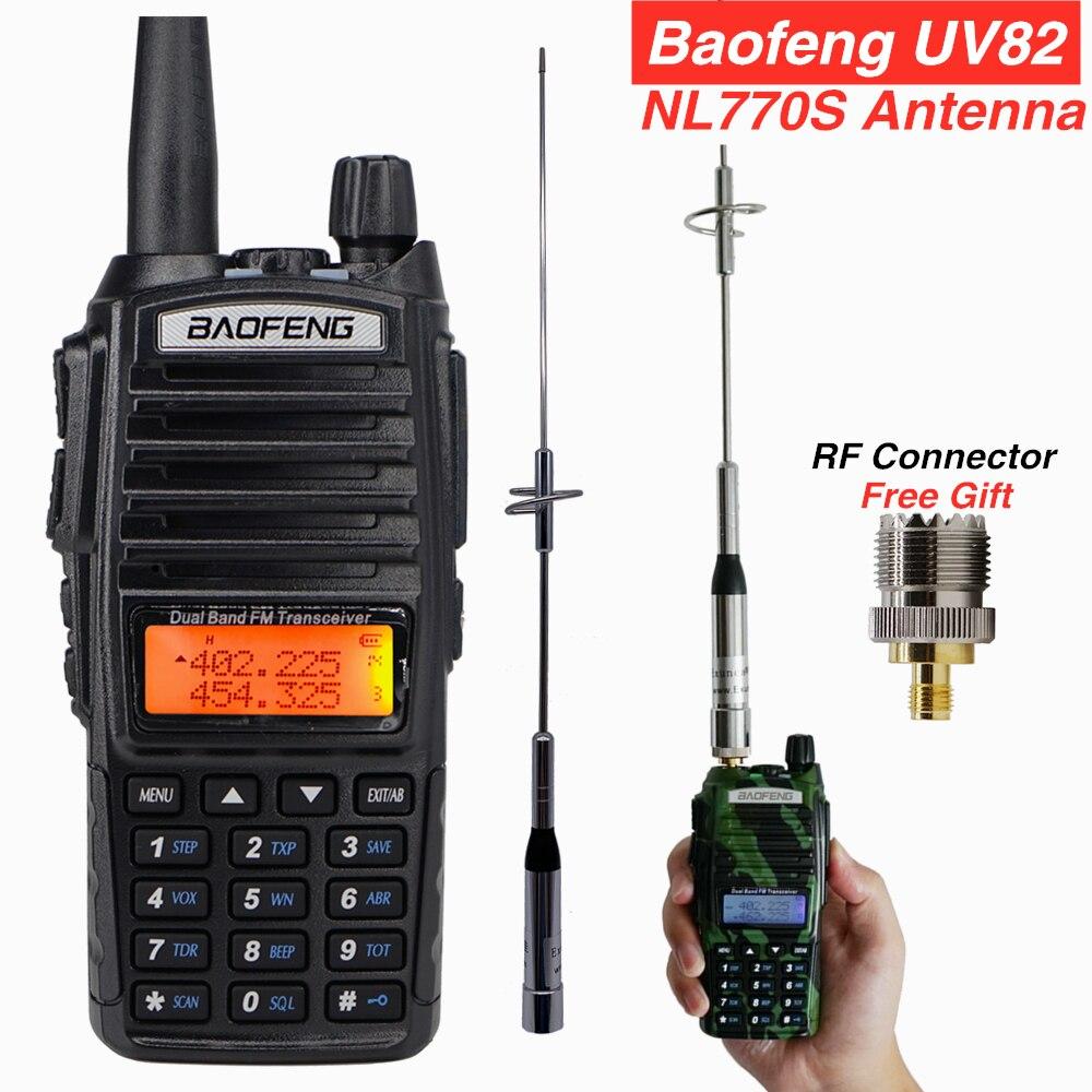 Powerful Baofeng UV-82 Walkie Talkie + NL770S Antenna For Mobile Car Radios Hunting Station Max 100w UV-82hp UV82 VHF Ham CB