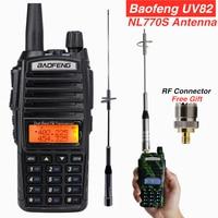 Powerful Baofeng UV 82 Walkie Talkie + NL770S Antenna for Mobile Car Radios Hunting Station Max 100w UV 82hp UV82 VHF Ham CB