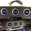 12 цветов светодиодный автомобиль, устанавливаемое на вентиляционное отверстие в салоне автомобиля на выходе сопла турбины атмосферная лам...