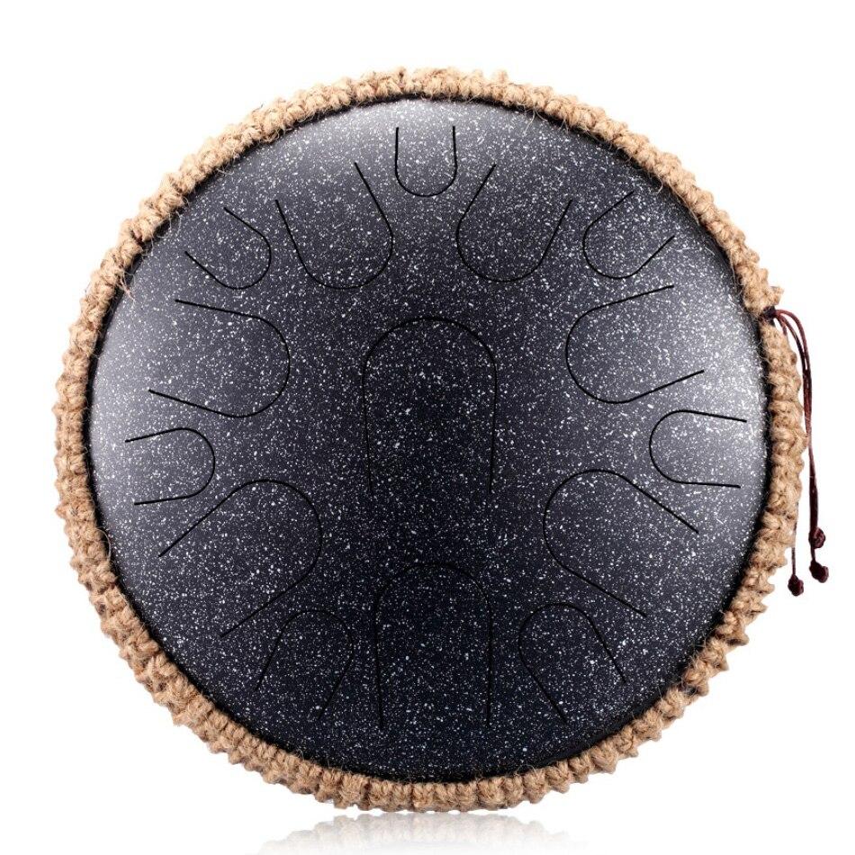 Новый стальной барабан для языка, 13 дюймов, 15 тонов, ручной барабан, перкуссионный инструмент, подарок для начинающих и любителей музыки для йоги, медитации 3