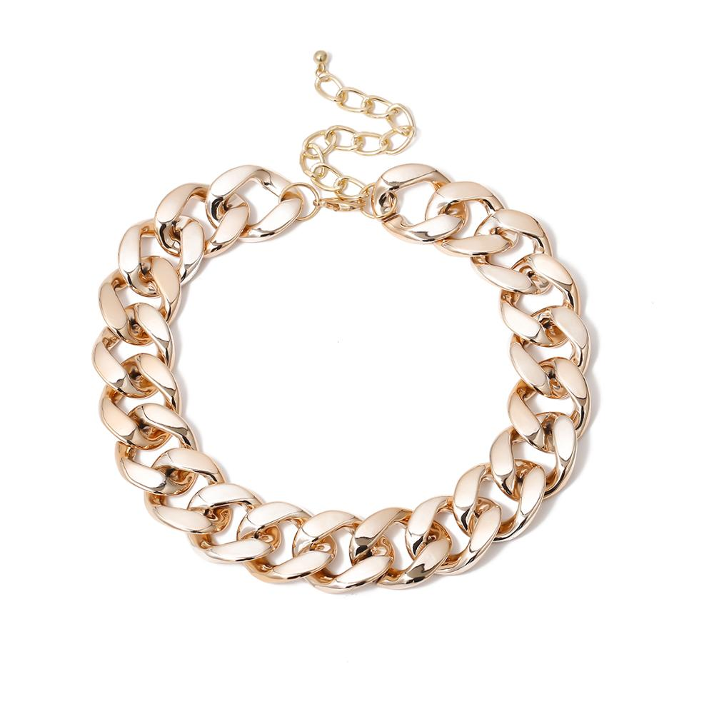 Lacteo Gothic Punk Golden CCB Chain Choker Necklace for Women Vintage Cross Chain Charm Necklace Jewelry Female Accessories Gift 4