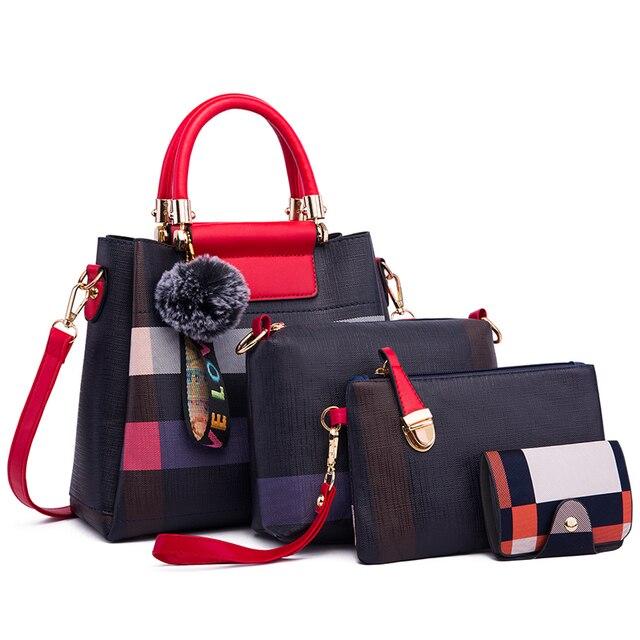 Ceossman 4 pçs/set bolsa feminina sacos de mão das senhoras bolsas de luxo bolsas femininas sacos de grife para a mulher 2020 bolsa saco composto do plutônio 3