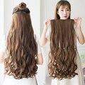 Длинные прямые синтетические волосы MANWEI на клипсе, 5 зажимов, накладные светлые волосы, коричневые и черные волосы для женщин