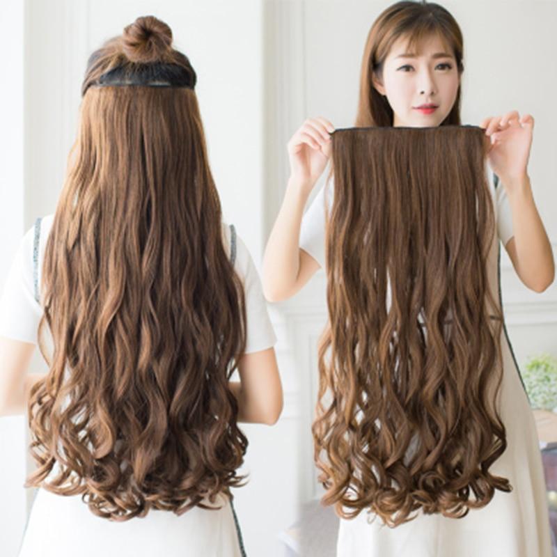 MANWEI длинные прямые волосы на клипсах, синтетические волосы для наращивания, 5 клипов, накладные светлые волосы, коричневые, черные волосы для женщин|Синтетические прикрепляющиеся пряди|   | АлиЭкспресс