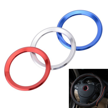 SPEEDWOW Aluminum Steering Wheel Trim Circle Sticker For BMW M3 M5 E36 E46 E60 E90 X1 F48 X3 X5 X6 Car Styling Decoration Ring image