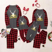 Комплект для папы, мамы и ребенка; футболка с длинными рукавами; комбинезон; брюки для мальчиков и девочек с рисунком рождественского оленя; домашняя одежда