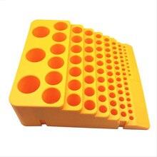 Ящик для инструментов для хранения многофункциональный 85 отверстий расширитель фреза пластиковый настольный сверло портативные аксессуары утолщенная стойка