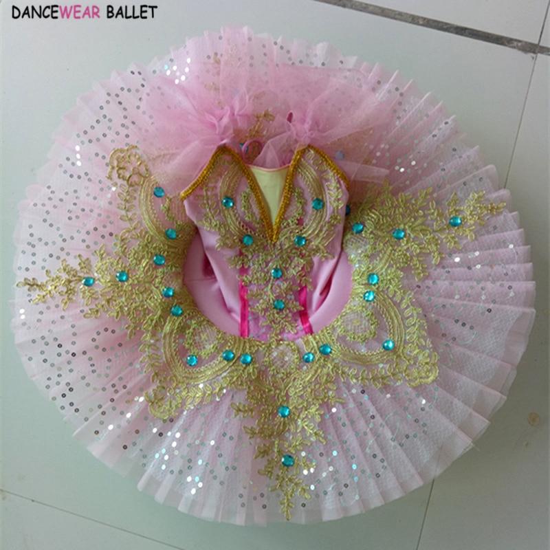 Ballet Platter Tutu Led Light Dance Costume Child Kids Girls Blue Pink Pancake Tutu Professional Ballet Costumes Halloween Party